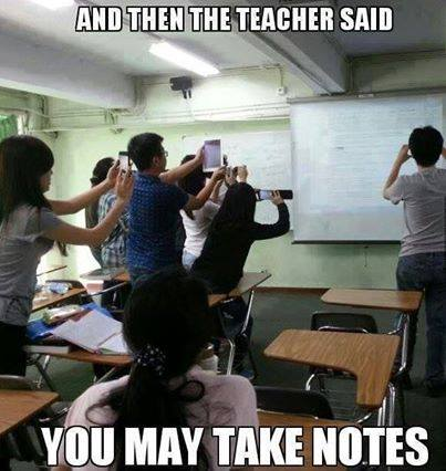 notes teacher